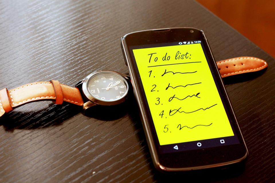 Smartphone Watch List App To Do List To Do